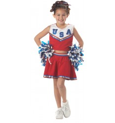 patriotic cheerleader
