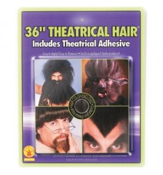 36 theatrical hair black