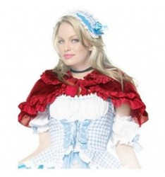 Plush ruffle trimmed capelet2