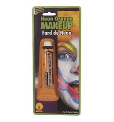 Neon orange make up