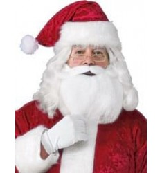 Adult santa beard, wig, glasses