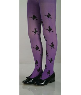 Purple Glitter Witch Tights...