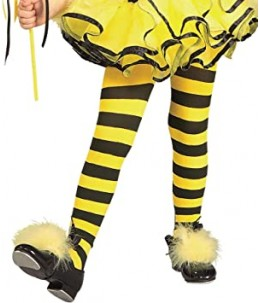 Bumble bee tights kids