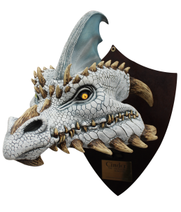 Cinder the white dragon-trophy