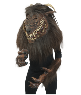 Snarling werewolf