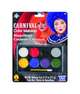Carnival colors make up
